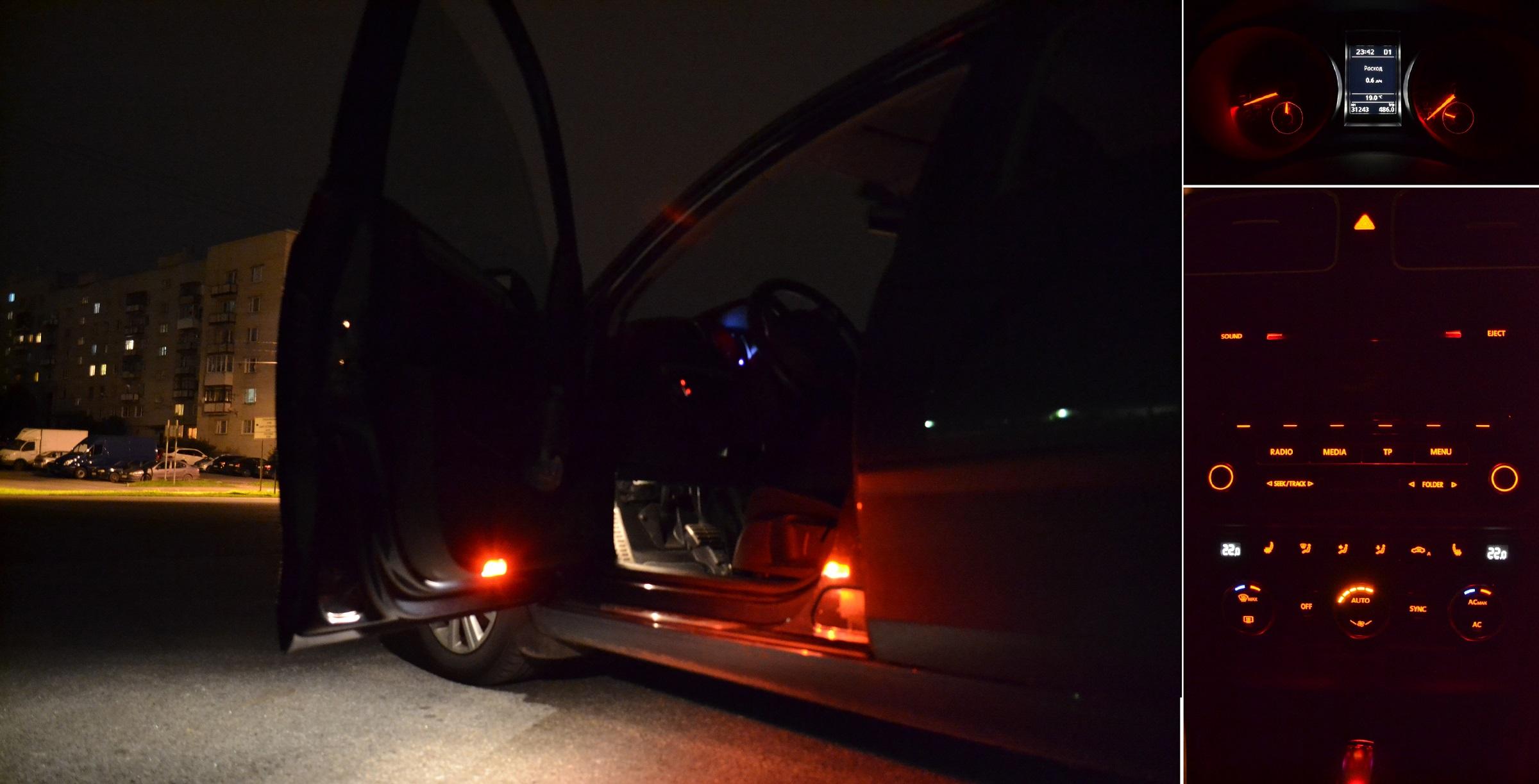 установка подсветки в двери фольксваген джетта6